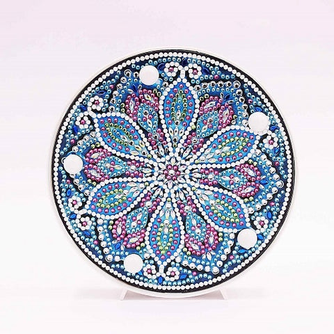 Diamond Painting Blue Mandala Diamond Painting Light - OLOEE