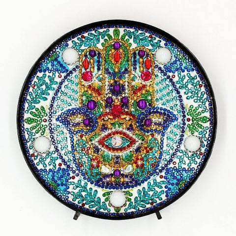 Diamond Painting Hamsa Hand Diamond Painting Light - OLOEE
