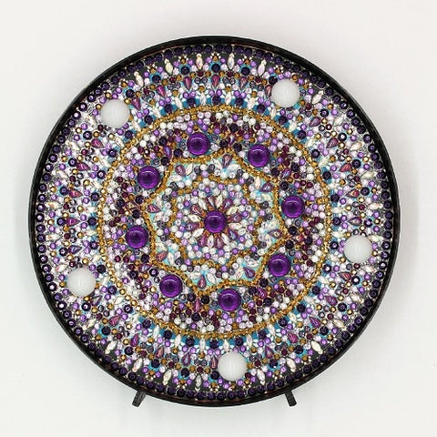 Diamond Painting Purple Crystal Diamond Painting Light - OLOEE