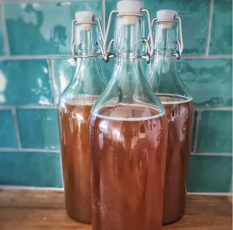 How to brew Kombucha using black tea