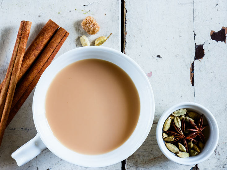 Masala Indian chai with cinnamon sticks and cloves (NO COPY RIGHT INFRINGEMENT INTENDED)