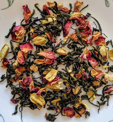kashmiri kahwa green tea leaves