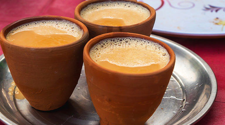 Indian chai in clay pots or cups (NO COPY RIGHT INFRINGEMENT INTENDED)