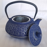 Cast Iron Teapot With Stainless Steel Infuser | 0.8 L / 27 oz | Non Toxic Vintage Blue Teapot - Freshcarton