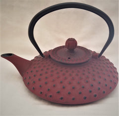 Cast Iron Teapot With Stainless Steel Infuser | 0.8 L / 27 oz | Non Toxic Shimuzu Red Teapot - Freshcarton