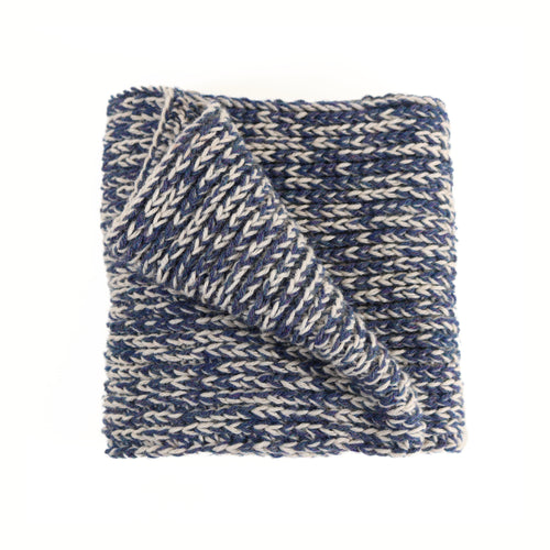 JAG INFINITY SCARF (BLUE AND CREAM)