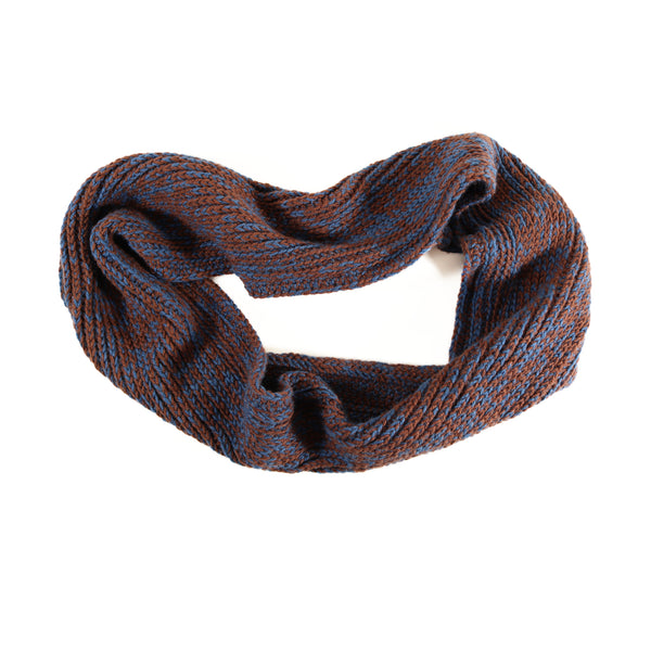 JAG INFINITY SCARF (BROWN AND BLUE MIST)