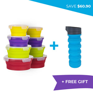 February Special Summer Bundle > 2 x Round Sets + FREE Water Bottle