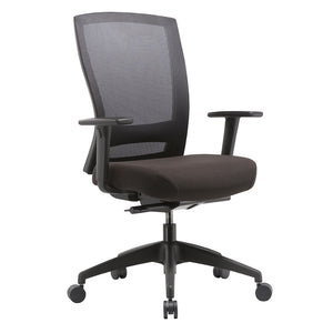 Buro Mentor Black Mesh Chair Black Base Adjustable Arms
