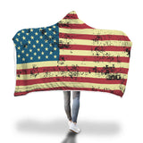 Awesome American Flag Hooded Blanket