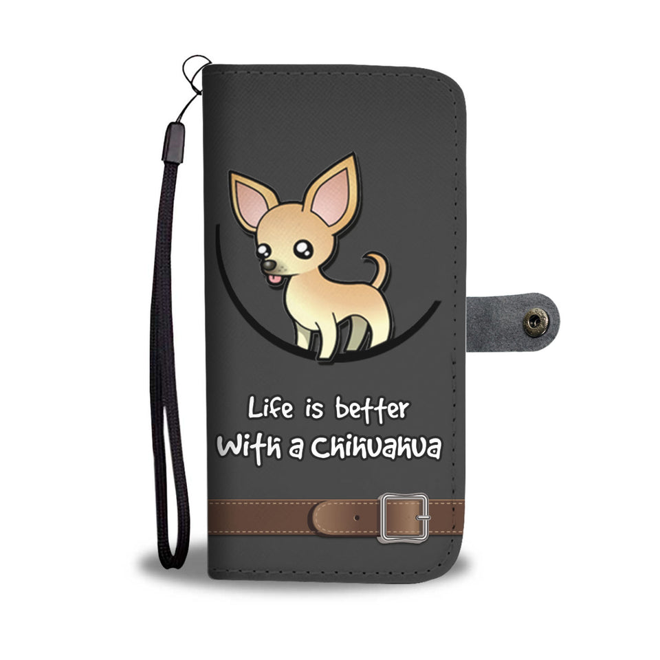 Awesome Chihuahua Dog Phone Wallet Case - Available for All Devices