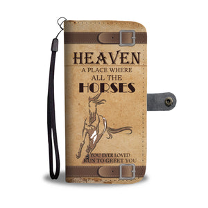 Awesome Horse Heaven Phone Wallet Case - Available for All Devices