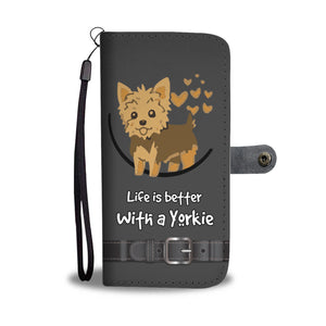 Awesome Yorkie Phone Wallet Case - Available for All Devices