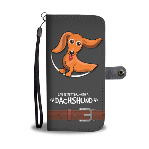 Awesome DACHSHUNDS Phone Wallet Case - Available for All Devices