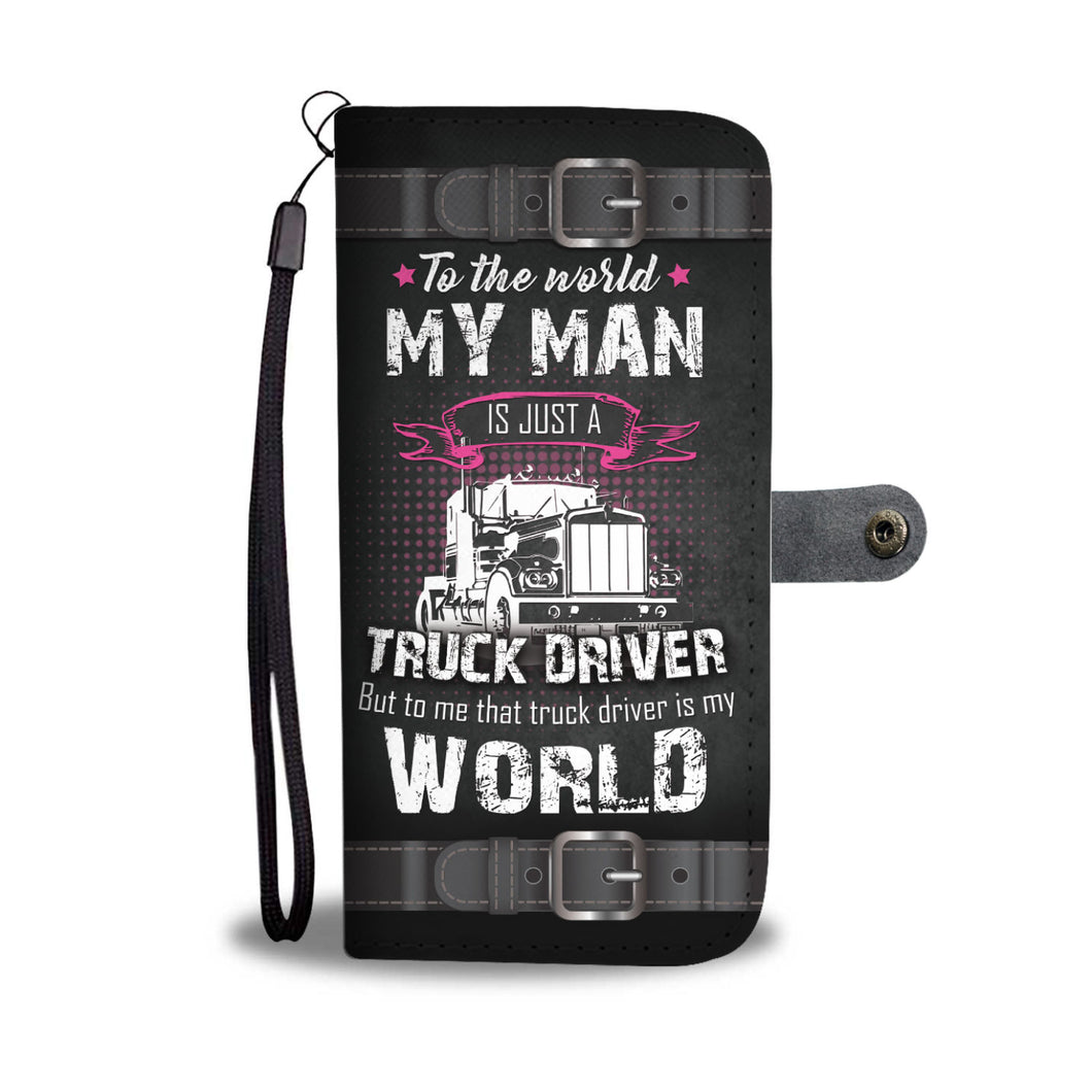 Awesome Truck Drivers Phone Wallet Case - Available for All Devices