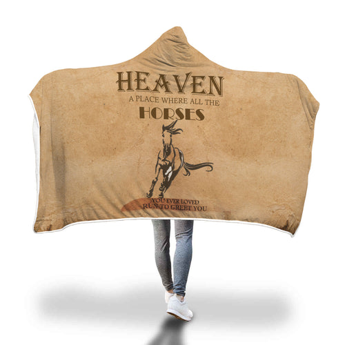 Awesome Horse heaven Hooded Blanket