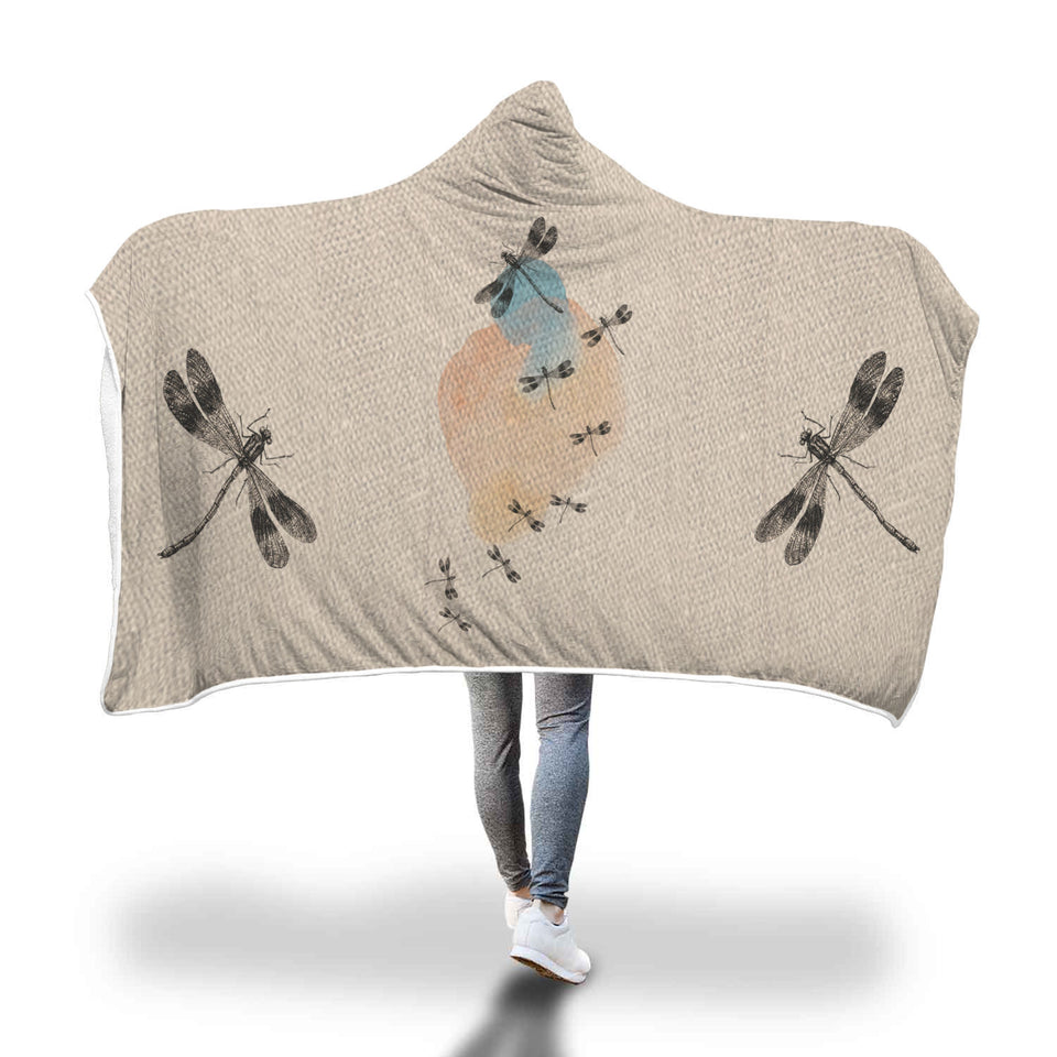 Awesome Dragonfly Hooded Blanket