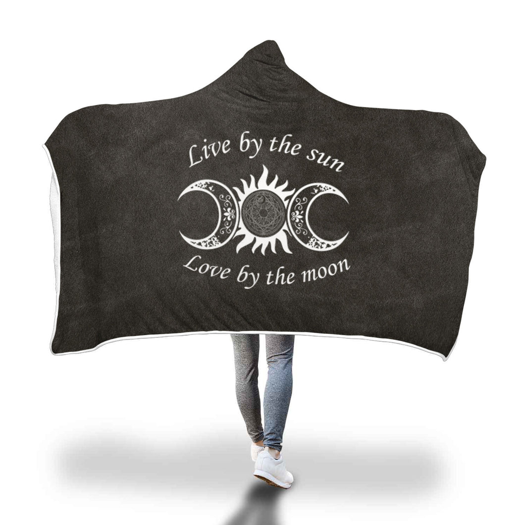 Awesome Sun/Moon Hooded Blanket