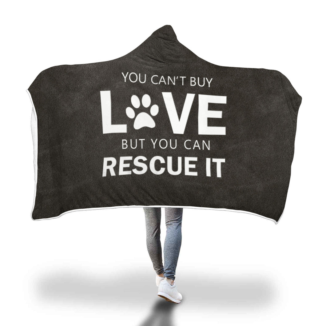 Awesome Dog Rescue Hooded Blanket