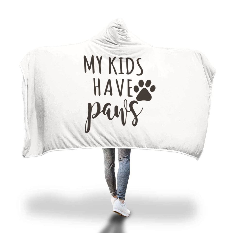 Awesome My kids Hooded Blanket