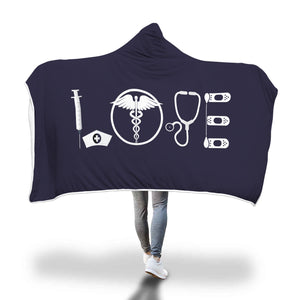 Awesome Nurse Hooded Blanket