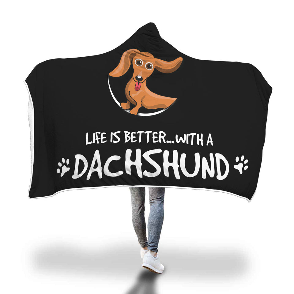 Awesome DACHSHUNDS Hooded Blanket