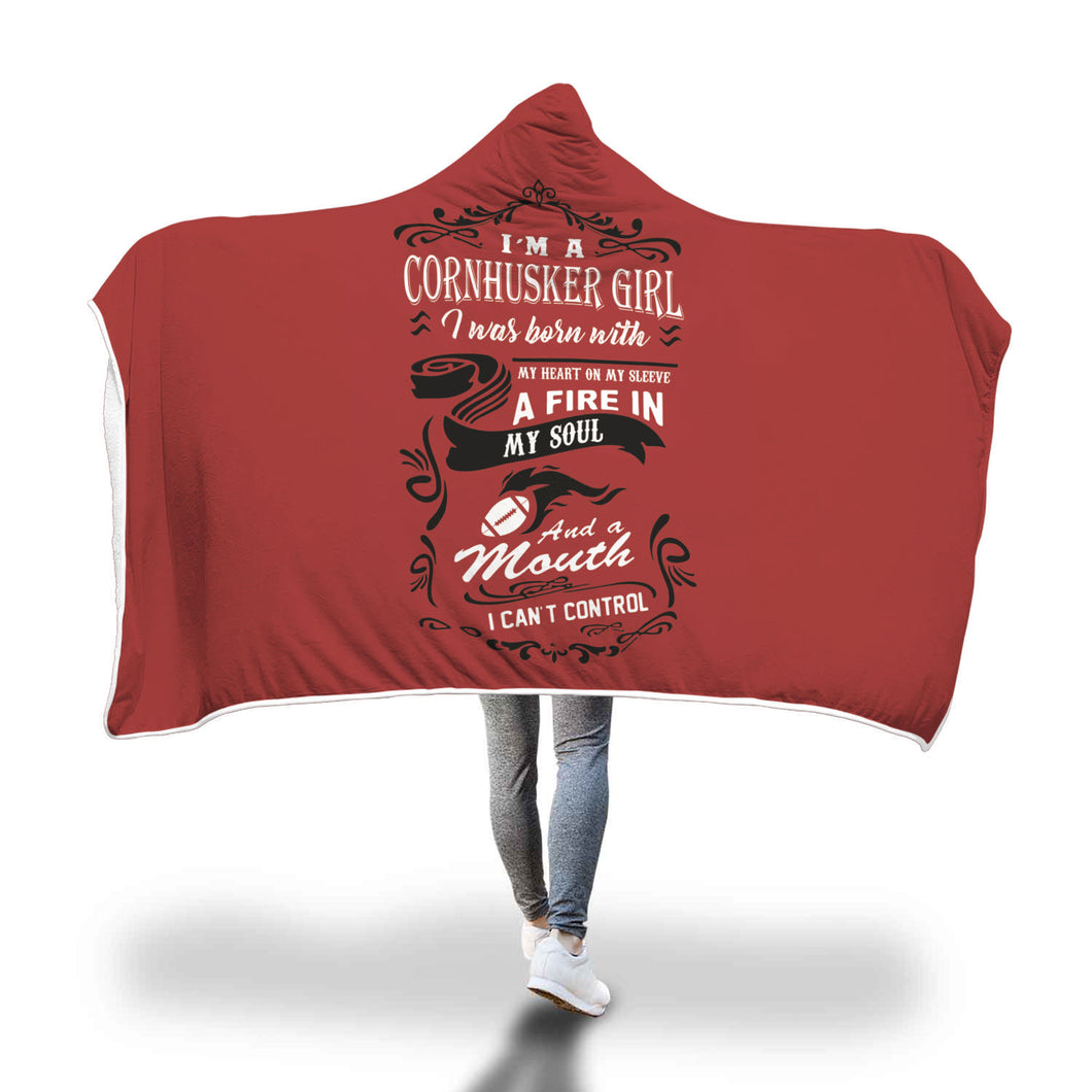 Awesome Cornhuskers Hooded Blanket