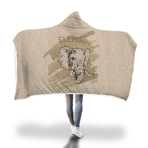 Awesome Elephants Hooded Blanket