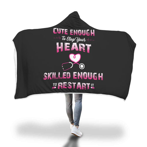 Awesome Nurses Hooded Blanket