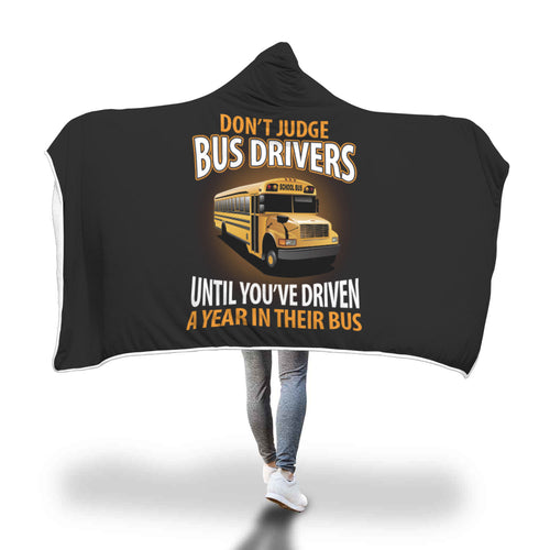 Awesome Bus Drivers Hooded Blanket