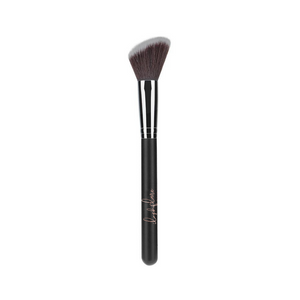 Angled face brush