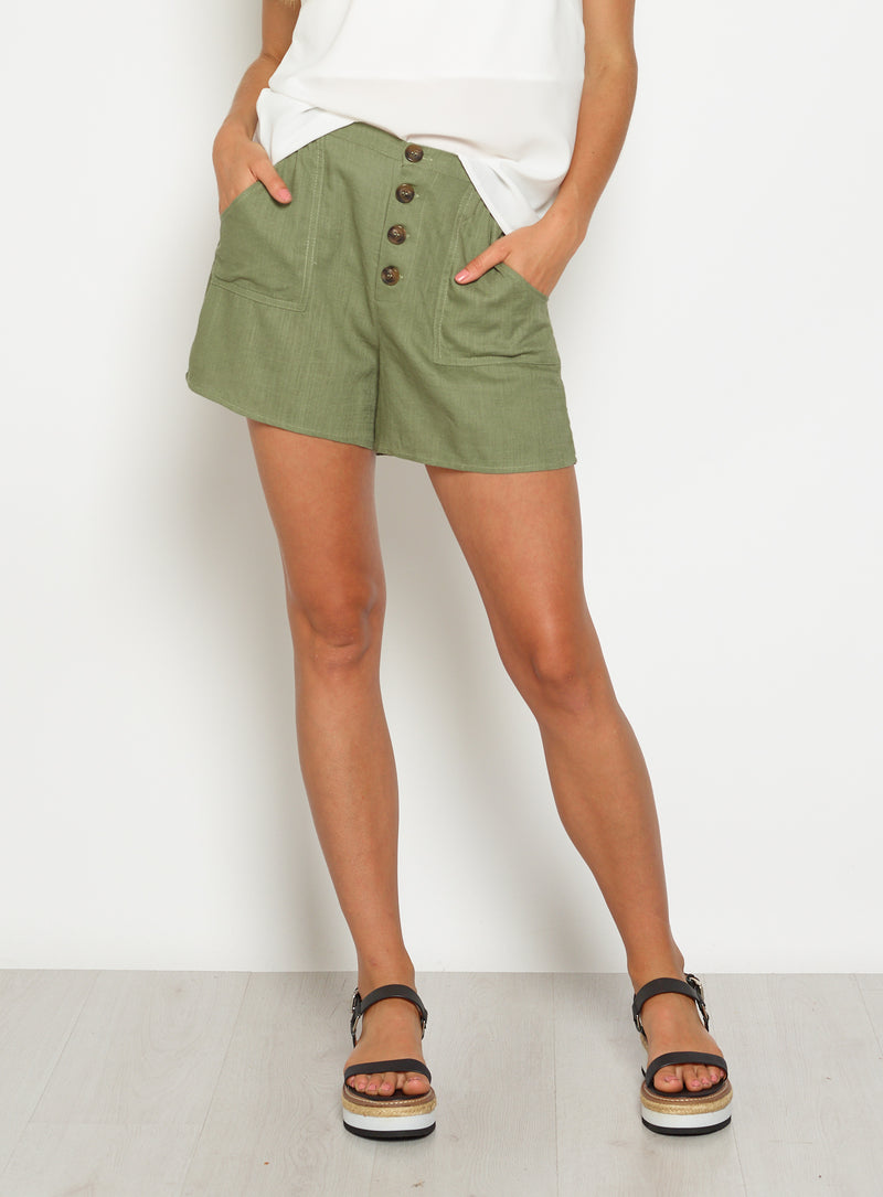 Darcy Short-KHAKI - Own Kind Australia