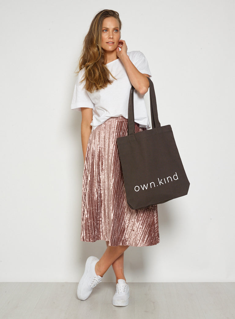 Own Kind Canvas Tote-Black
