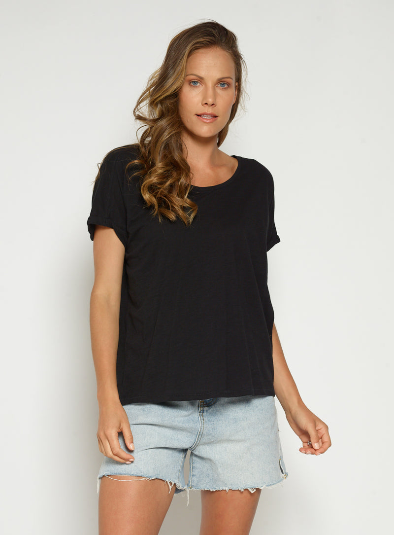 Cambridge Organic Tee-Black - Own Kind Australia