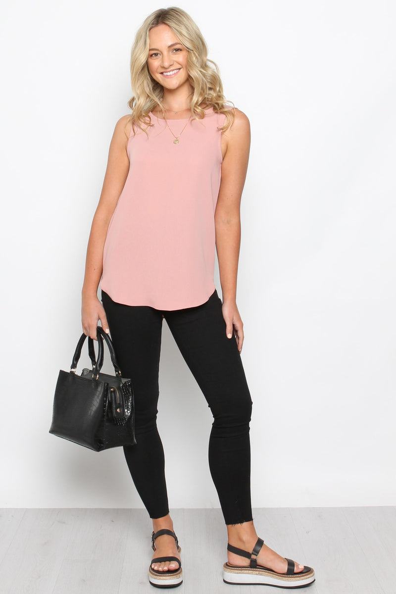 Jane Basic Singlet-BLUSH - Own Kind Australia