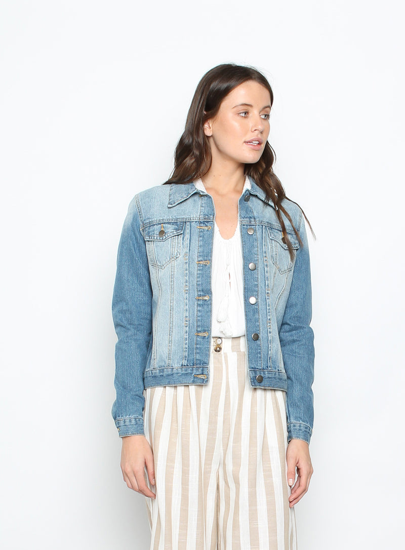 Denim Jacket Washed Blue