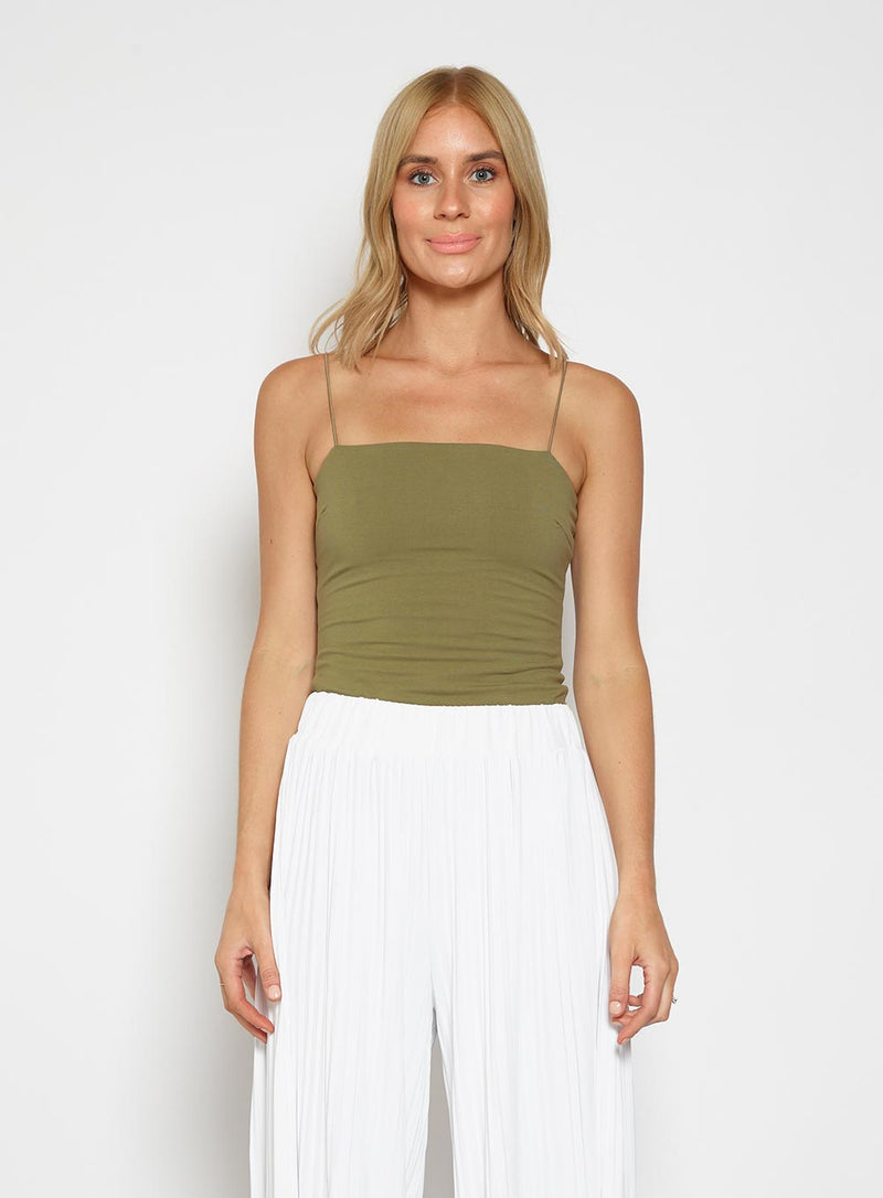 Blinded By The Light Cami-KHAKI - Own Kind Australia