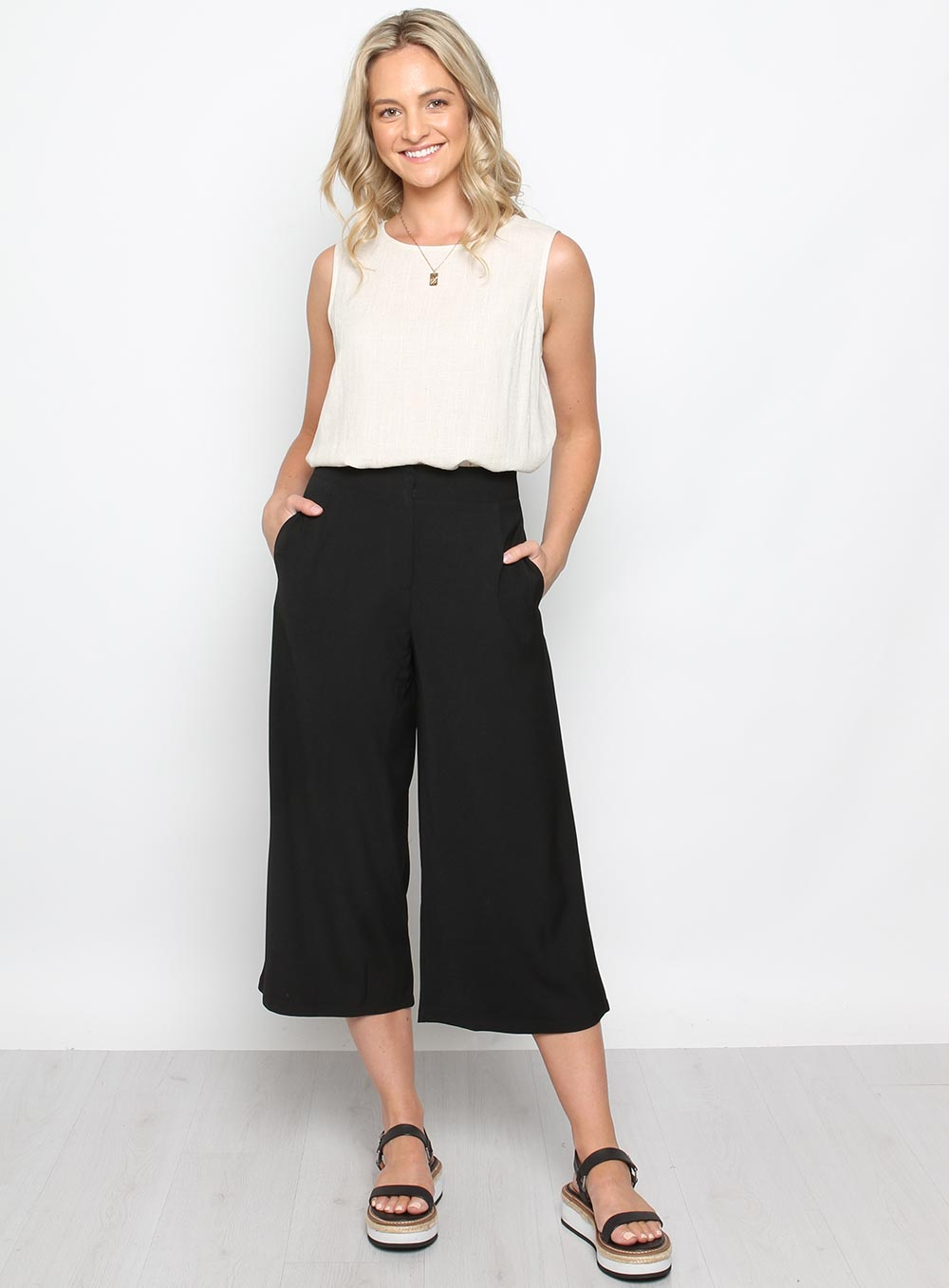Mason Culottes-BLACK - Own Kind Australia