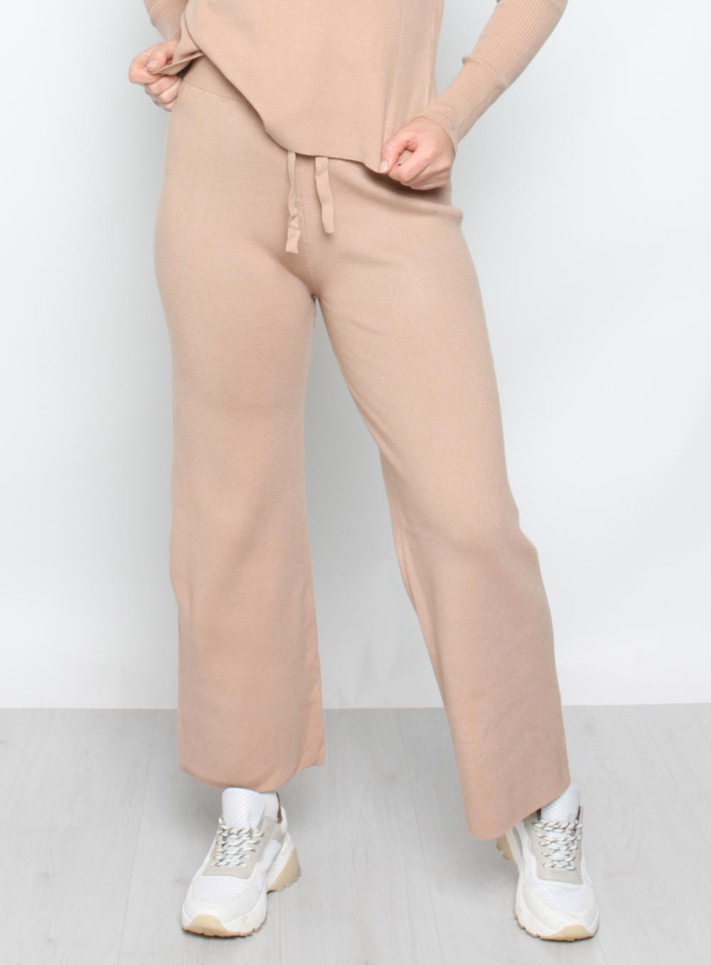 Samantha Knit Pant -TAN - Own Kind Australia
