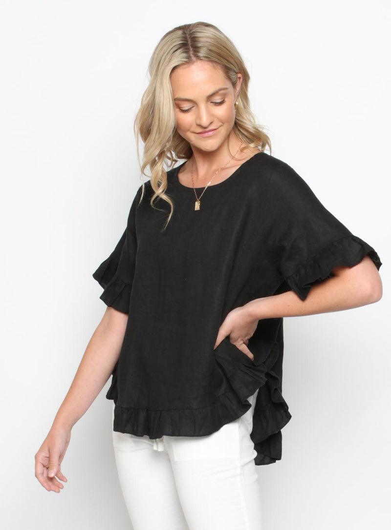 Lia Top-Black - Own Kind Australia