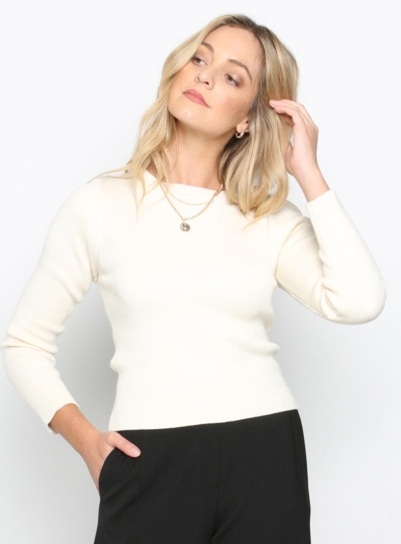 Otis Knit Top-CREAM - Own Kind Australia
