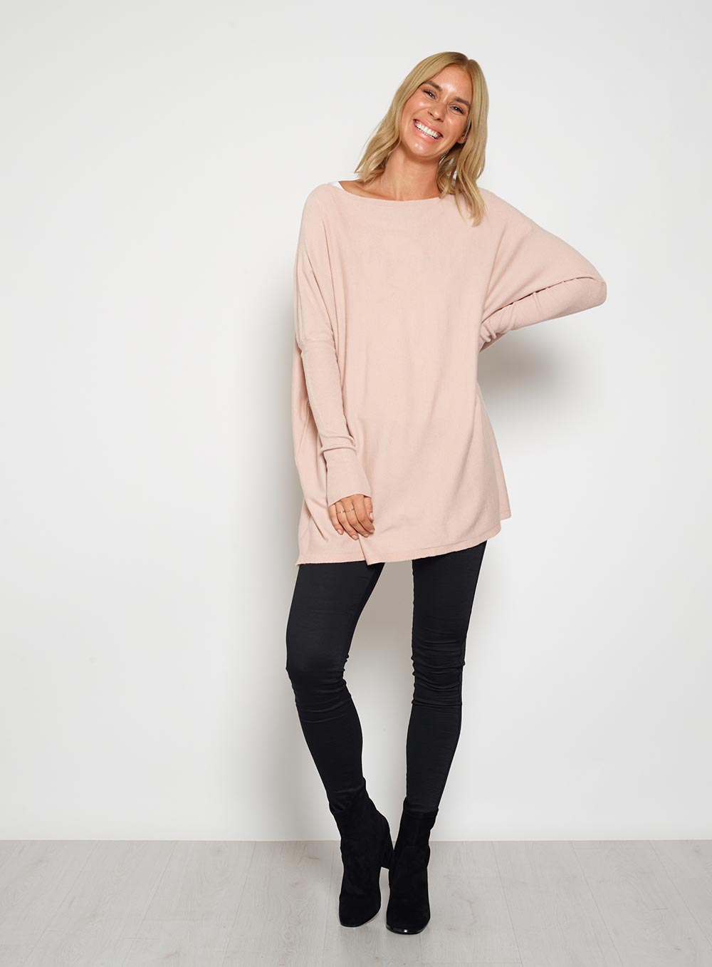 Straight Neck Knit Blush