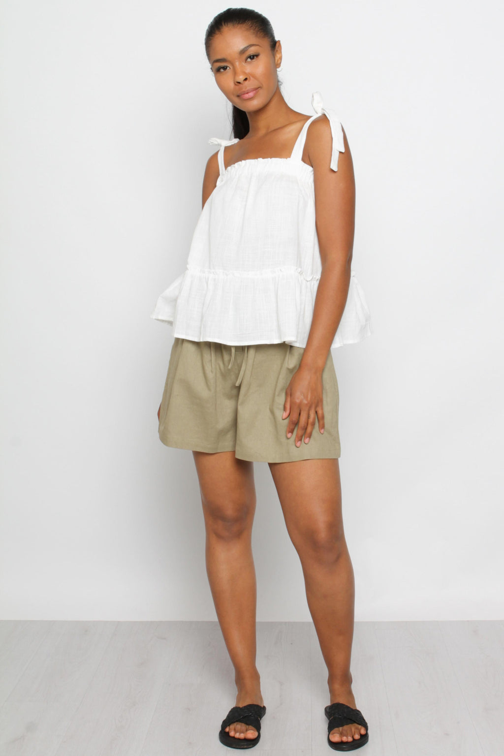 Sara Panel Top-White