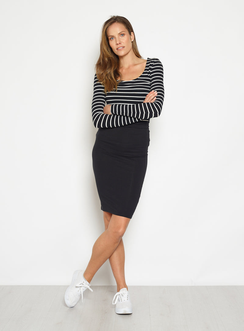 Alicia midi skirt-Black - Own Kind Australia