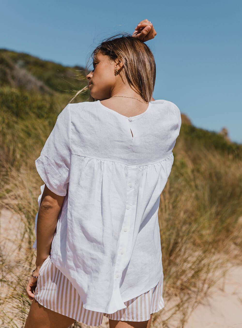 Sadie Top-White