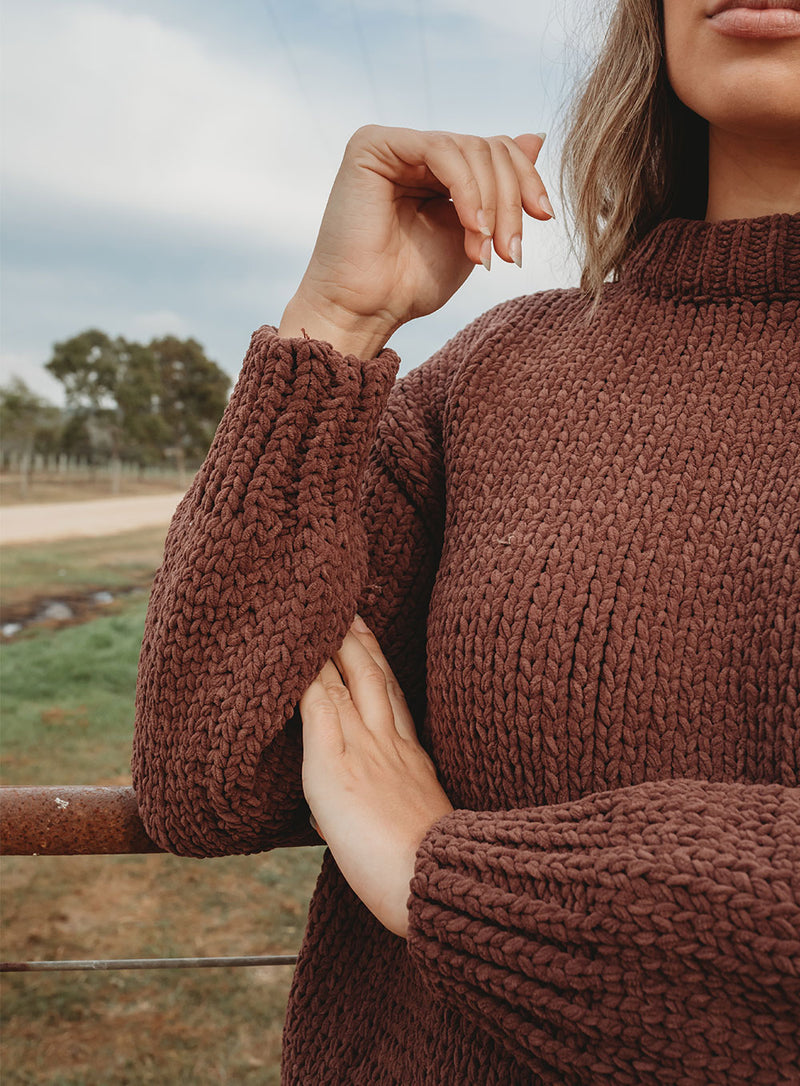 Tainted Love Knit-CHOCOLATE