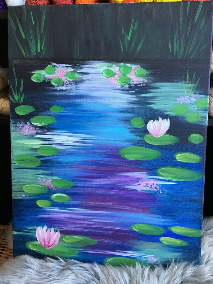 Paint Night: Pond (Feb 23 @ 1pm)