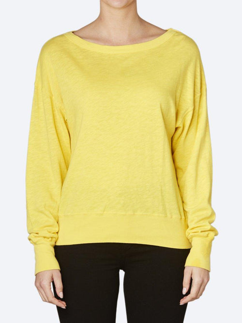 Yeltuor - AMERICAN VINTAGE - Tops - AMERICAN VINTAGE SONOMA SWEATER - CANARY -  XS-S