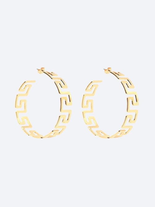 Yeltuor - BLING BAR - Accessories & Shoes - BLING BAR AURELIA HOOPS POLISHED GOLD -  -