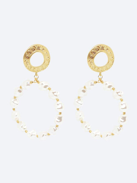 Yeltuor - BLING BAR - Accessories & Shoes - BLING BAR ELISSA PEARL HOOPS -  -